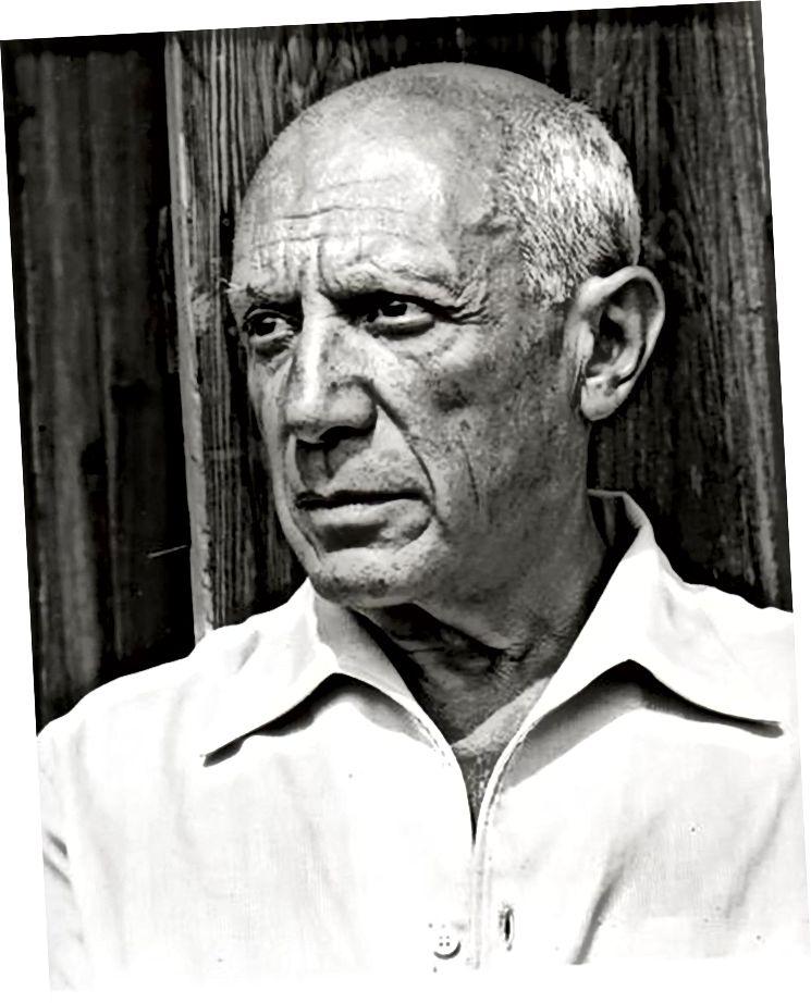 Pablo Picasso, 1952 von Gilles Ehrmann fotografiert.