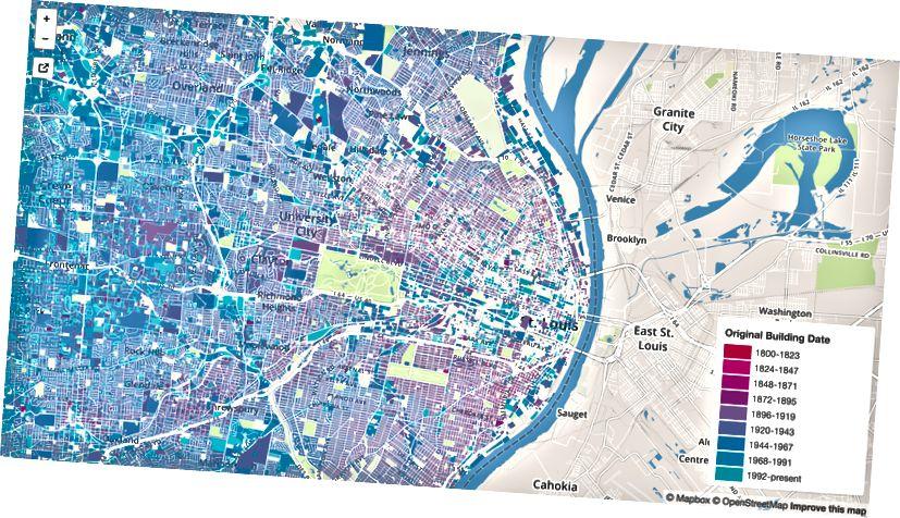 Louis Building Age Map, 2014, Chris Spurlock
