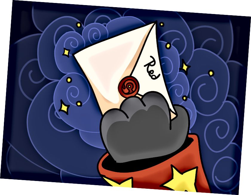 Червен получи запечатан плик от господаря си.