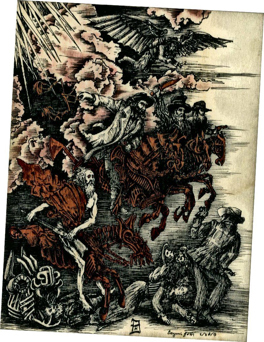 বার্চ কাঠের উপর ফ্যাবার ক্যাসেলস এবং লাল ওয়াইন