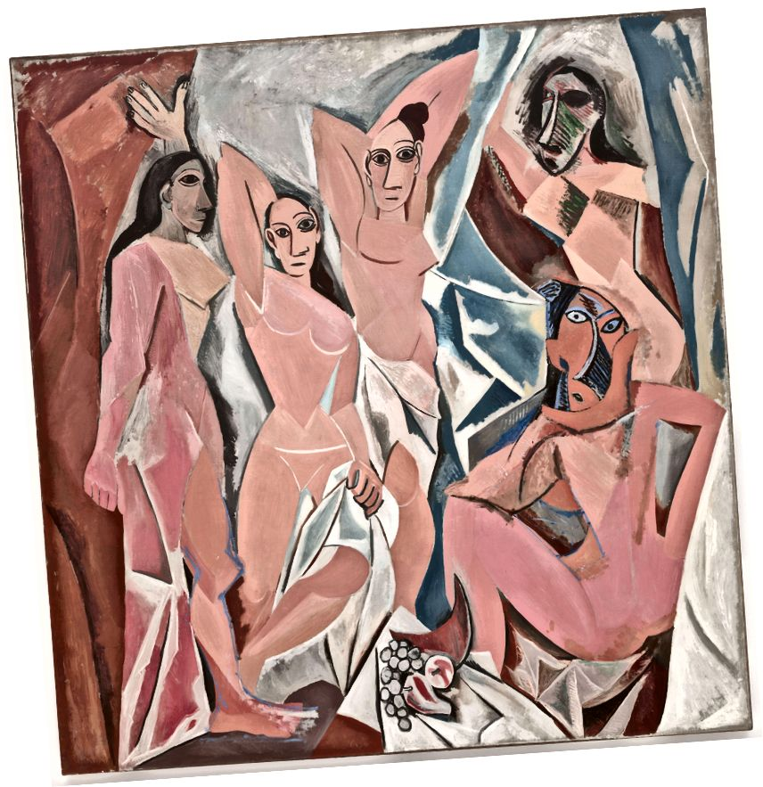 Pablo Picasso, Les Demoiselles d'Avignon, 1907. (Wikipedia)
