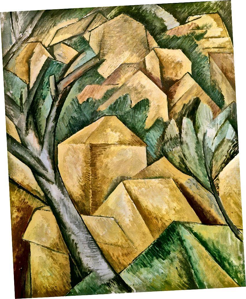 Georges Braque, Häuser in l'Estaque, 1908. (Wikipedia)