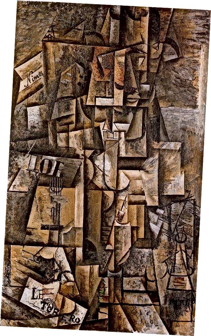 Пабло Пикасо, L'Aficionardo, 1912 г. (източник: Wikiart)