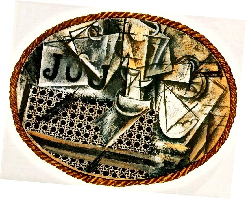 Pablo Picasso, Stillleben mit Caning Caning, 1912