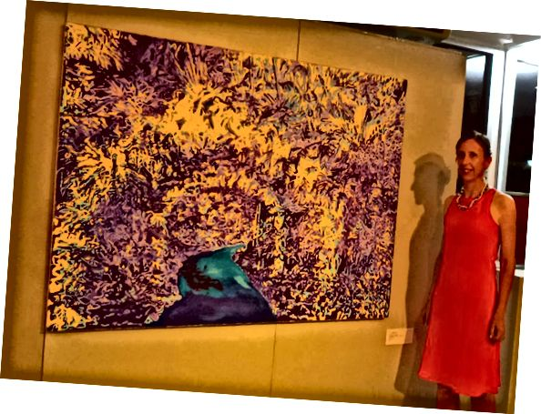 "Tjaša Iris s obrazem ""Cesta v zahradě"""