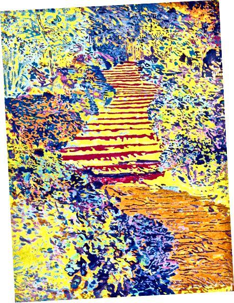 """""""Slunečné schody a květiny"""""""