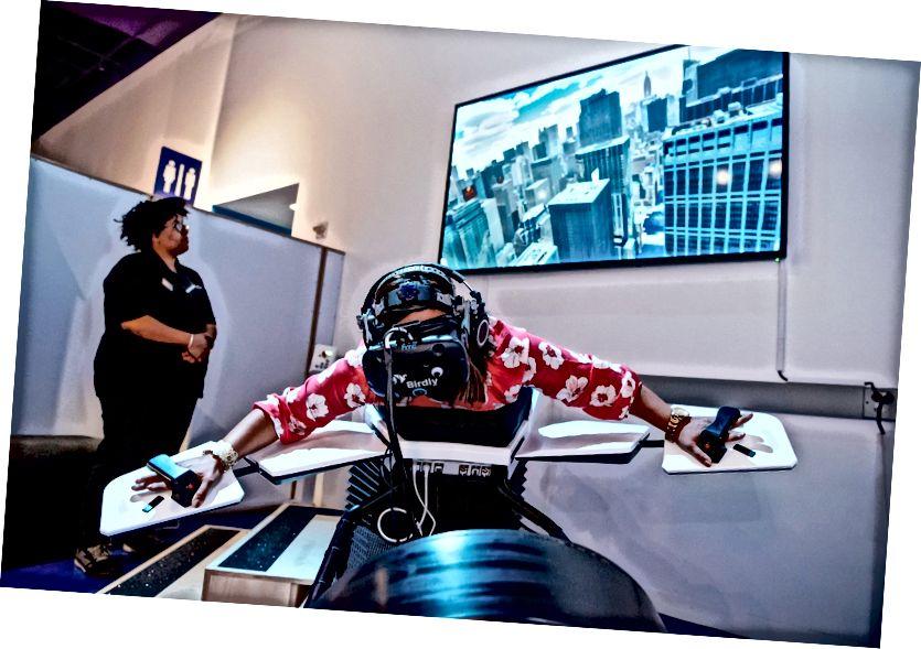 Վիրտուալ փորձ HTC Vive- ի հետ Սան Խոսե նորարարության Tech թանգարանում