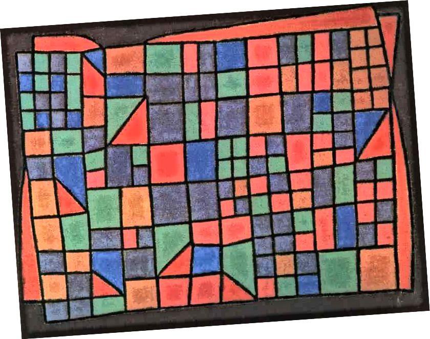 """Stephen Brophy, """"Bronx Backyards"""", 1991, olej na plátně, 36"""