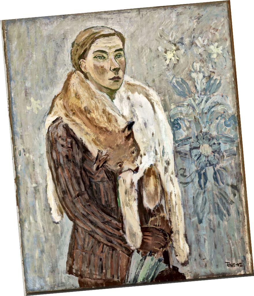 Tove Jansson, 'Lynx Boa' (özünün portreti), 1942 | Şəxsi Kolleksiya. Şəkil: Fin Milli Qalereyası / Yehia Eweis.