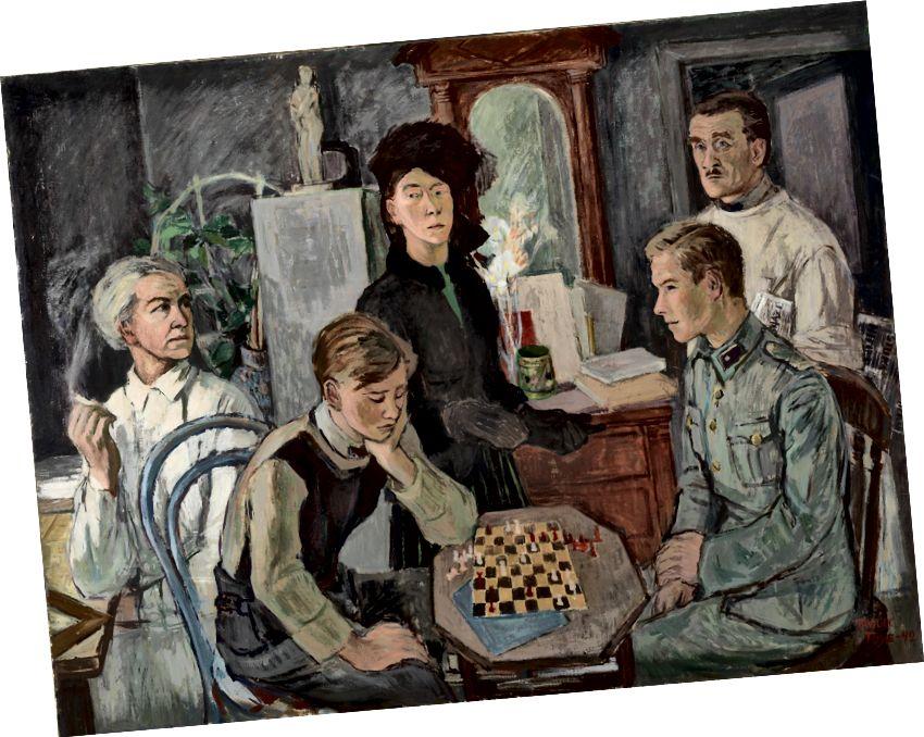 Tove Jansson, 'Ailə', 1942 | Şəxsi Kolleksiya. Şəkil: Fin Milli Qalereyası / Hannu Aaltonen.