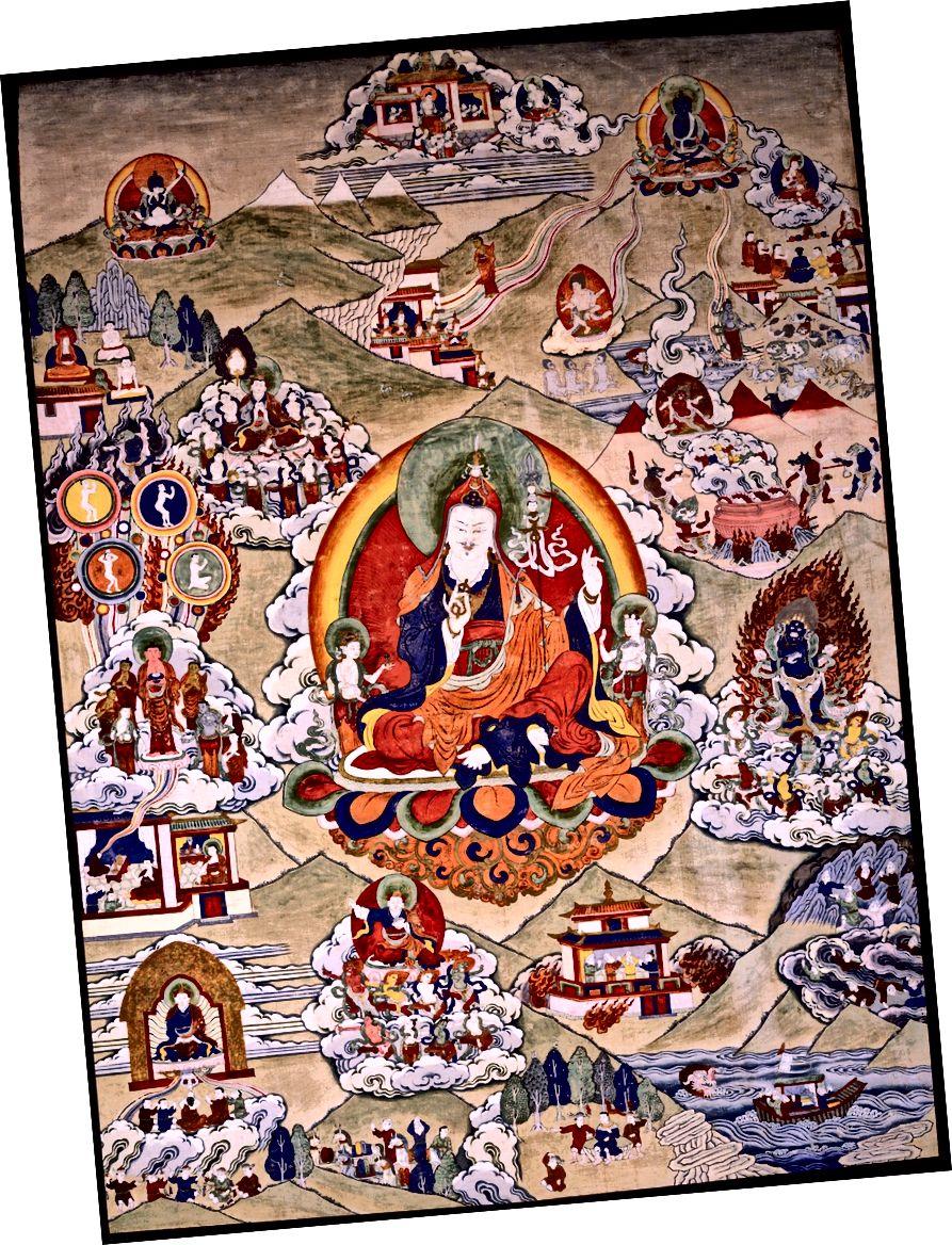 Padmasambhava। তিব্বত; 19 তম শতক. কাপড়ে পিগমেন্টস। | সৌজন্যে রুবিন মিউজিয়াম অফ আর্ট
