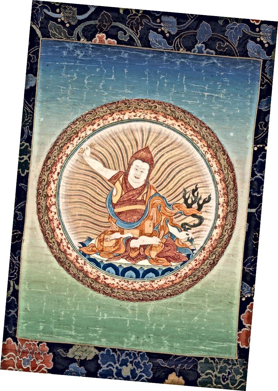 শিক্ষক ও ট্রেজার প্রকাশক, জটসন নিয়িংপো (1585–1656) পূর্ব তিব্বত; 19 তম শতক. কাপড়ে পিগমেন্টস। | সৌজন্যে রুবিন মিউজিয়াম অফ আর্ট