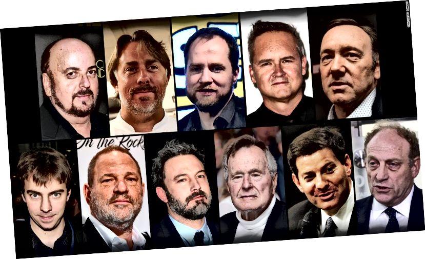 Die unvollständige Liste mächtiger männlicher Personen, die an Vorwürfen wegen sexueller Übergriffe beteiligt sind (Quelle: CNN)