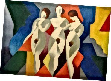 Նկար 1. Ռենե Մագրիթ, երեք կին, 1922, կտավից յուղ: չափերը անհայտ են: (Լակմա, 2017)