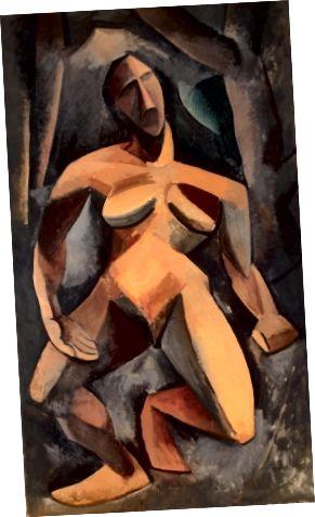 Նկար 2. Պաբլո Պիկասո, Դիրադ, 1908, կտավից յուղ, 185 սմ x 108 սմ: (Թանգարան, 2017)