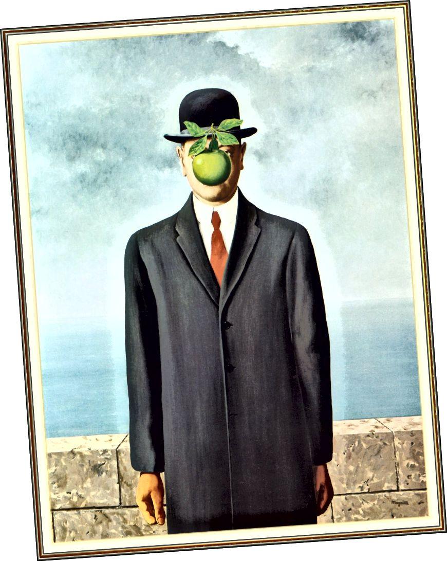 """Նկար 4. Ռենե Մագրիտ, մարդու որդի, 1964 թ., Կտավից յուղ, 45 2/3 """"x35"""": (ArtPaintingArtist, 2014)"""
