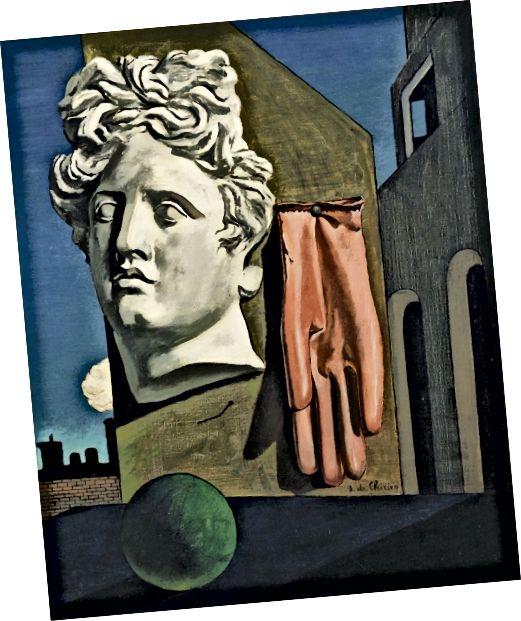 Նկար 8 Giorgորջիո Դե Չիրիկո, Սիրո երգը, 1914 թ., Յուղը կտավի վրա, 73 սմ x 59.1 սմ: (MoMA, 2017)