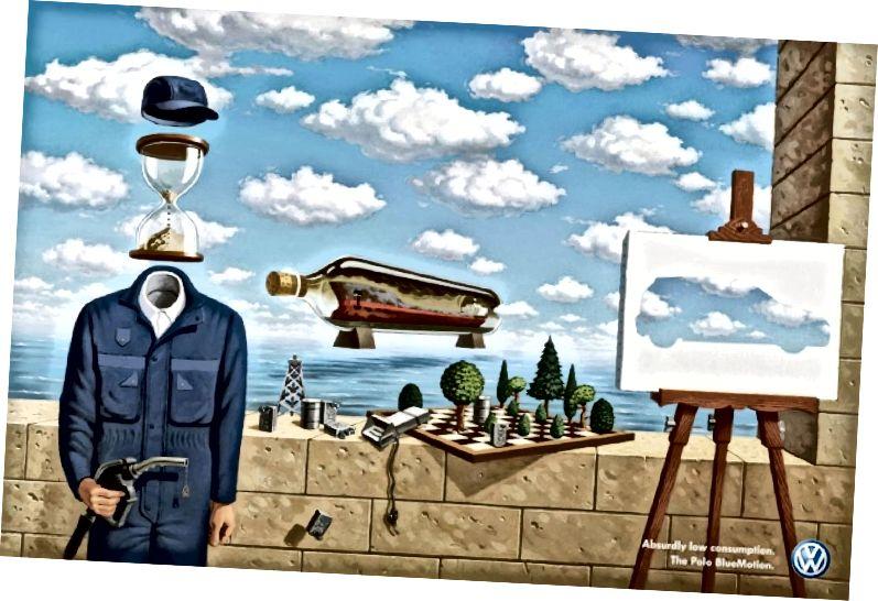 Գծապատկեր 8 DDB, Volkswagon տպել գովազդը - Magritte, 2008 թ., Թվային արվեստ, անգիտակցական չափսեր: (Աշխարհ, 2008)
