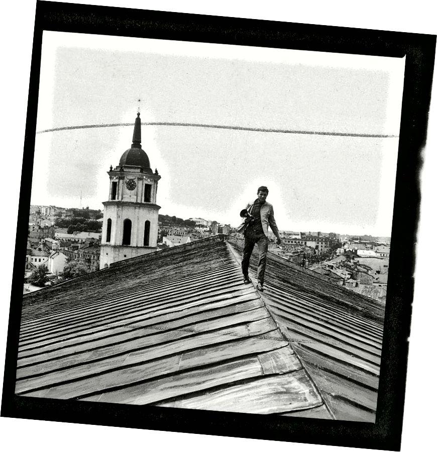 Витас Луцкус, над крышами Вильнюса.