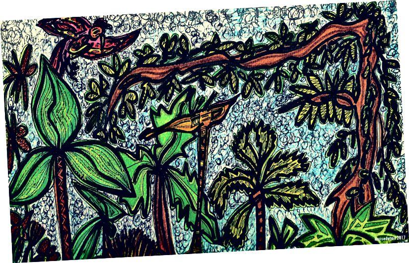 Zeichnung von Louise du Toit