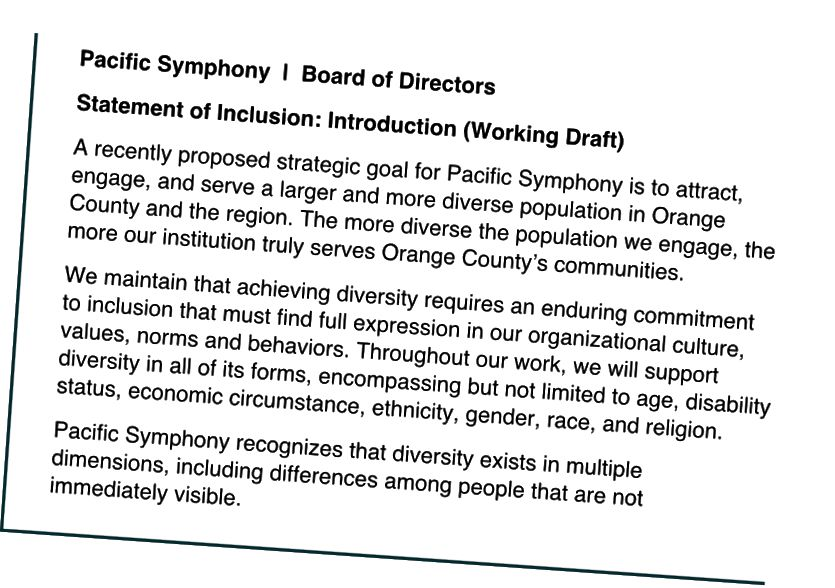 Probíhá návrh úvodu do prohlášení o začlenění tichomořské symfonie.