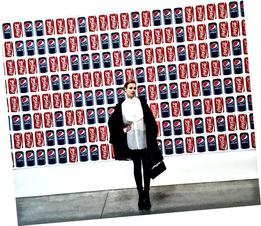 Elena Soboleva vid The Brant Foundation Art Study Center.