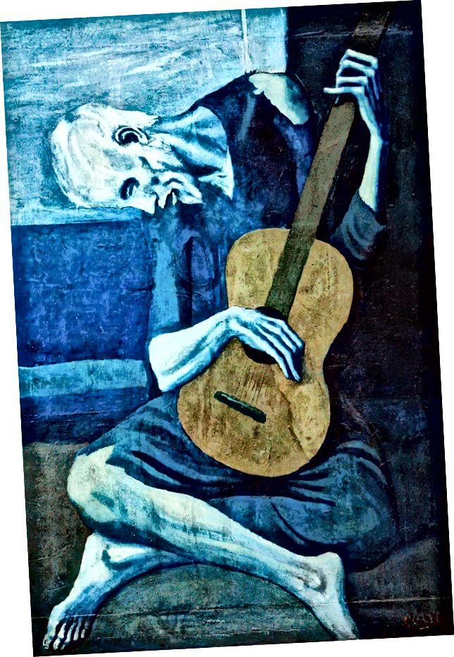 Հին կիթառահար ՝ Պաբլո Պիկասոյի կողմից