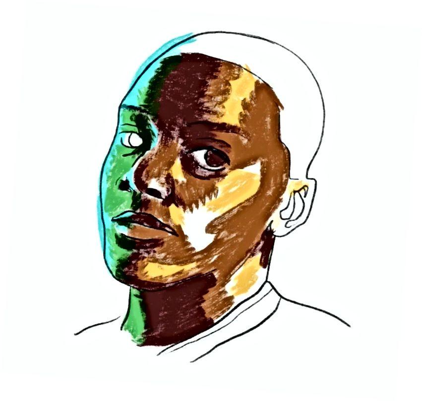 هنا ، أضع الألوان الأساسية لصورة شخصية (أحبك ، دانيال كالويا). لاحظ أنه لا يجب أن تكون جودة أو دقة لقطة الشاشة عالية. أرى ، بمجرد أن لا أركز على أن أكون في
