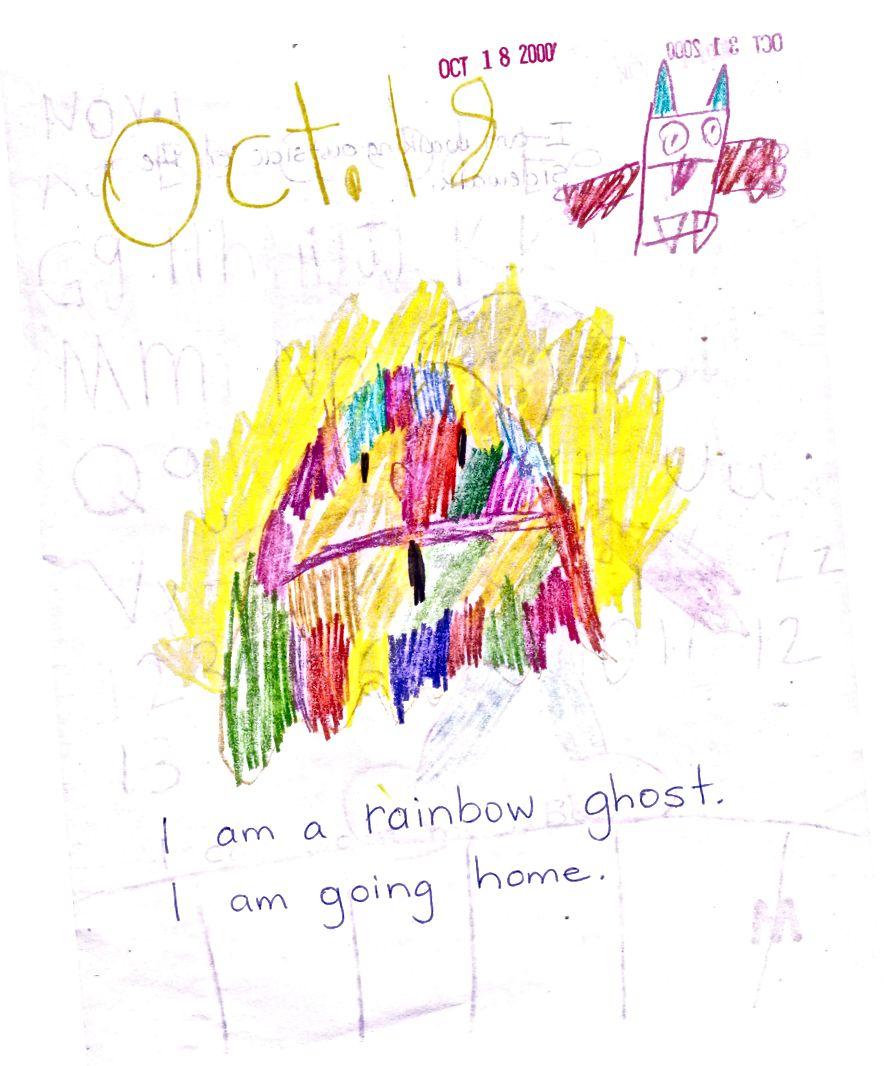 5 տարեկան իմ կողմից. Կապույտ գրելը պետք է լիներ այն, ինչ ես խնդրել եմ իմ ուսուցիչին գրել