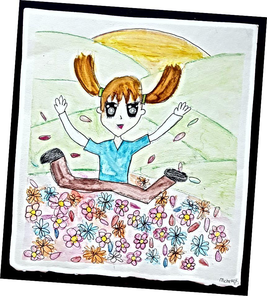 13-ամյա իմ իսկական սարսափելի անիմե արվեստը
