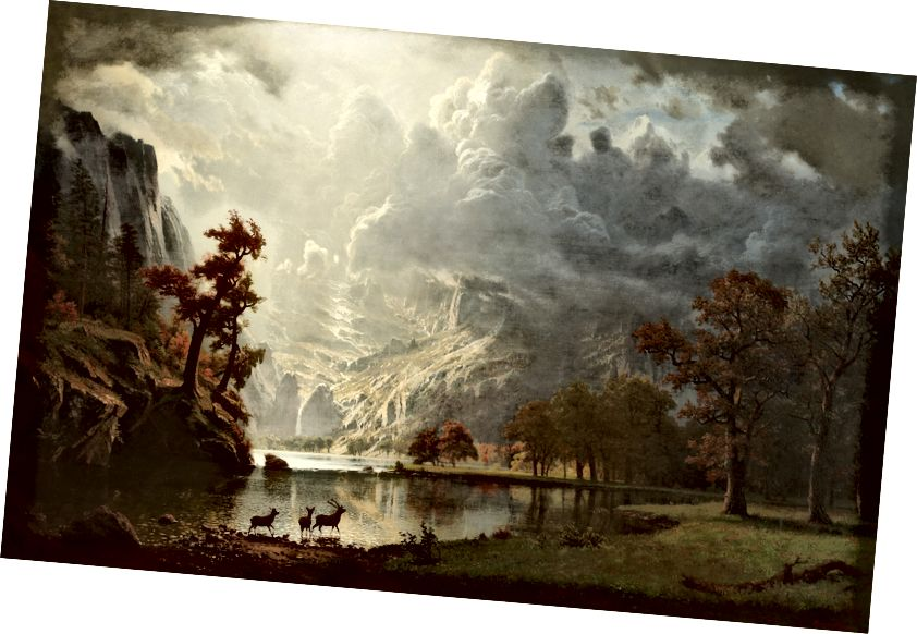 Albert Bierstadt - SierraNevadaMorninq, 1870. Kətan yağ.