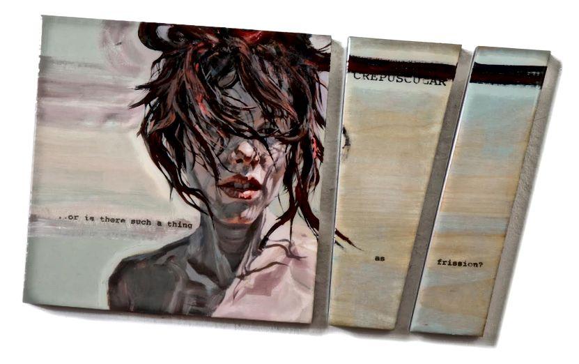 'Nadia: Crepuscular' ، 12 × 20.5 بوصة ، أكريليك وراتنج على لوح البتولا ، 2010