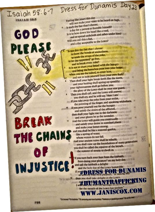 Një shembull i Artit Biblik në një fushatë tjetër kundër trafikimit të qenieve njerëzore. 2016