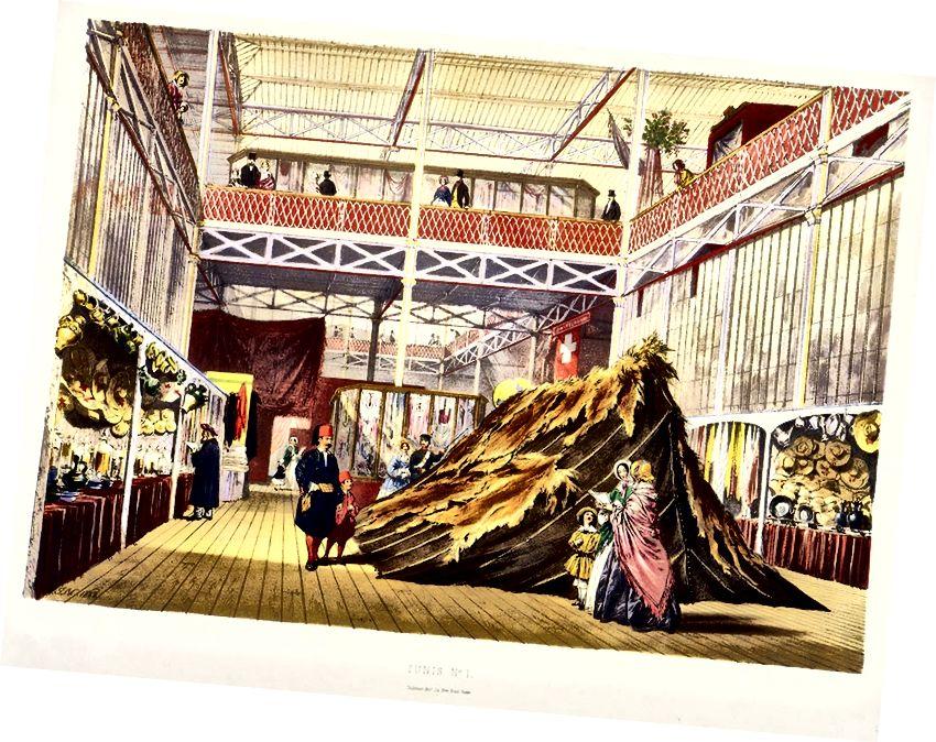 Tunis Tekstilləri, Böyük Sərgidə, 1851