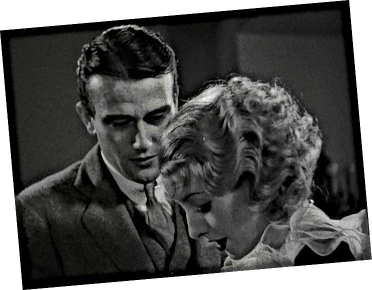 John Wayne gegenüber Barbara Stanwyck.