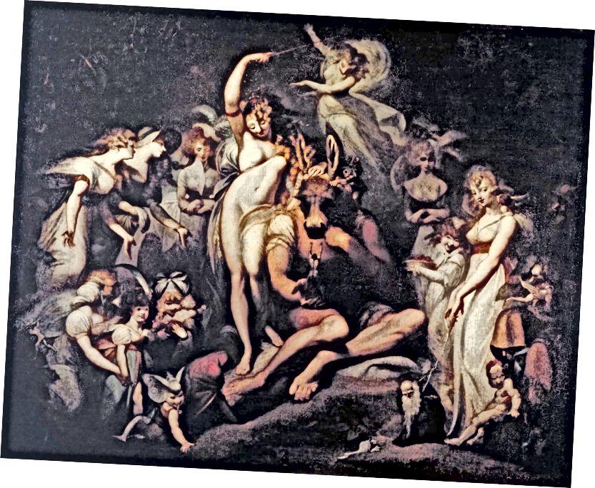 """Фусели обичаше Шекспир, като го наричаше """"върховен господар на страстите"""". Тук той изобразява Титания и дъното от съня на лятната нощ (Wikimedia Commons)"""