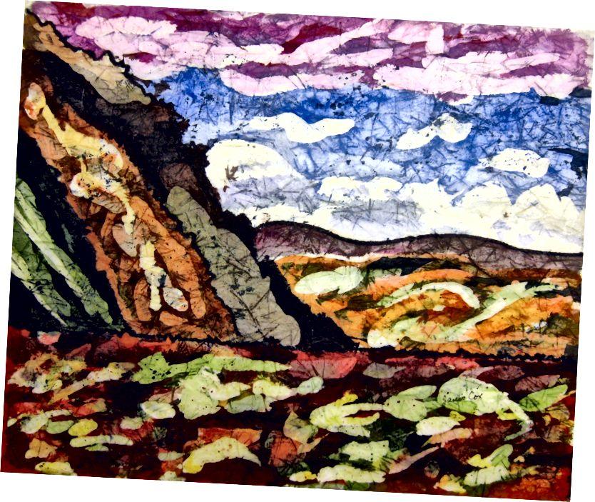 Janis Cox tərəfindən batik mənzərə - satılır