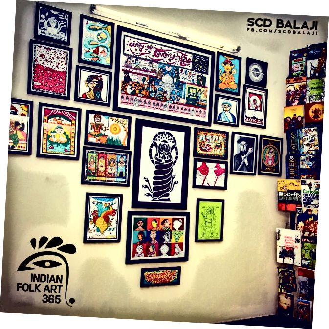 SCD Balaji ™ Studio Indian Folk Art Wall