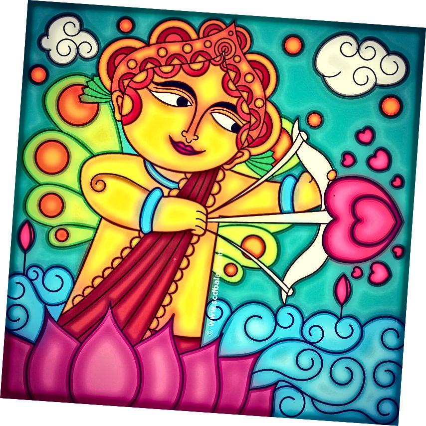 Moderní nástěnná malba Kerala od © SCD Balaji ™
