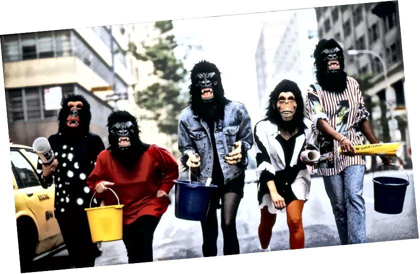 Գվարդիայի աղջիկներ: Լուսանկարը ՝ George Lange, հրատարակված The Guardian- ում