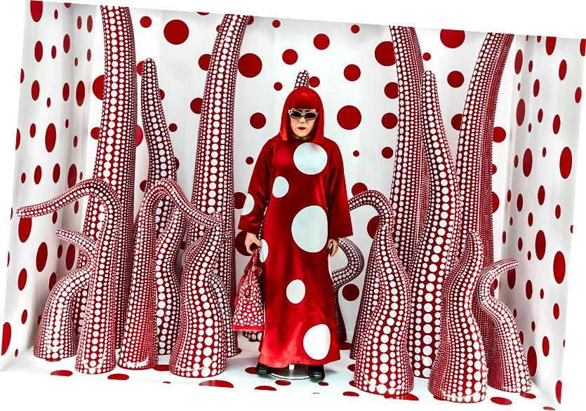 Յայոյ Կուսամայի աշխատանքները ցուցադրվում են Լոնդոնում, Victoria Miro պատկերասրահում մինչև 2018 թվականի դեկտեմբեր