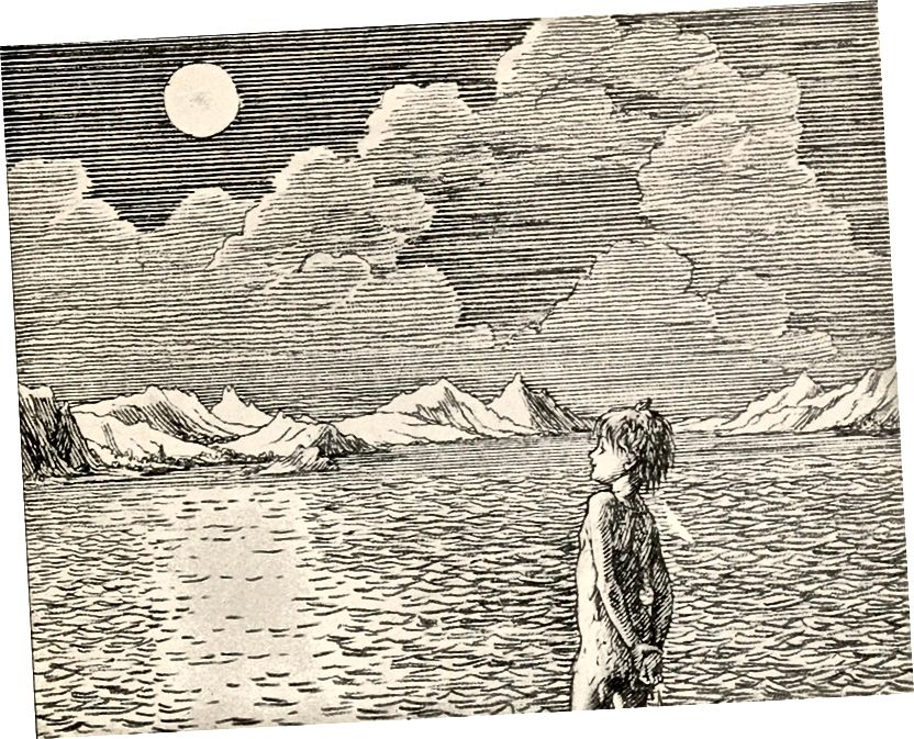 Ilustrace z původního Petera Pana od Jamese Barrieho