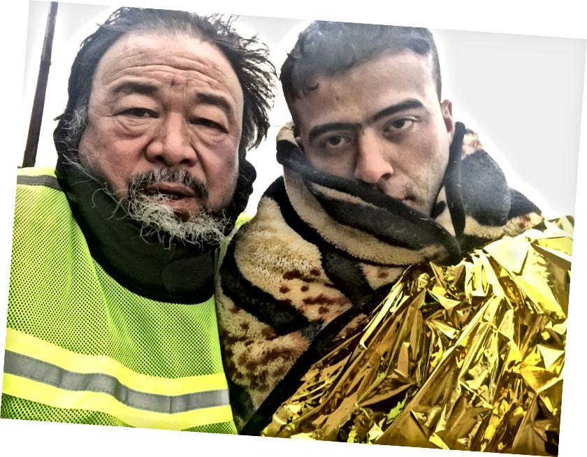 """Stále pochádza z """"ľudského toku"""" Ai Weiweiho s migrantom v Grécku"""