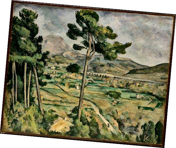 Different tar på seg Montagne Sainte-Victoire, av Paul Cezanne.