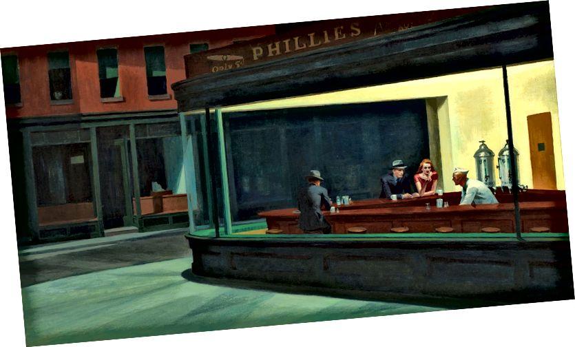 Nighthawks von Edward Hopper Bildnachweis: http://bit.ly/2q77DYP