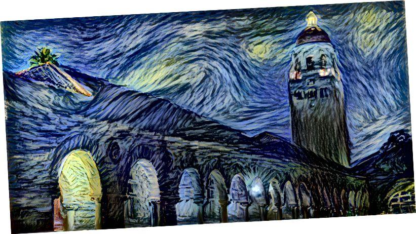 Der Stanford Campus von AI Van Gogh