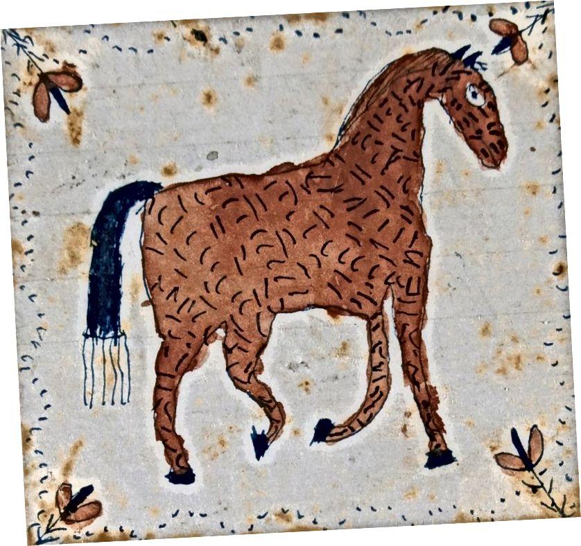 """Computer dachten, unser """"Pferd (BF1166)"""" sei * jede * Art von Tier. [0,68 - Hirsche, 0,41 - Wildtiere, 0,27 - Hund, 0,27 - Pferd, 0,25 - Säugetier, 0,25 - keine Person, 0,24 - Katze, 0,23 - eins, 0,23 - Giraffe, 0,22 - pferdeartiges Säugetier, 0,19 - Löwe, 0,11 - Lamm, 0,05 - Tiger, 0,04 - Kuh, 0,03 - Ziege, 0,03 - Löwe]. Höhere Konfidenzbewertungen wurden beibehalten, niedrigere fallen gelassen, und fehlerhafte Tags werden auftauchen, aber hoffentlich zu einem Entdeckungsmechanismus."""