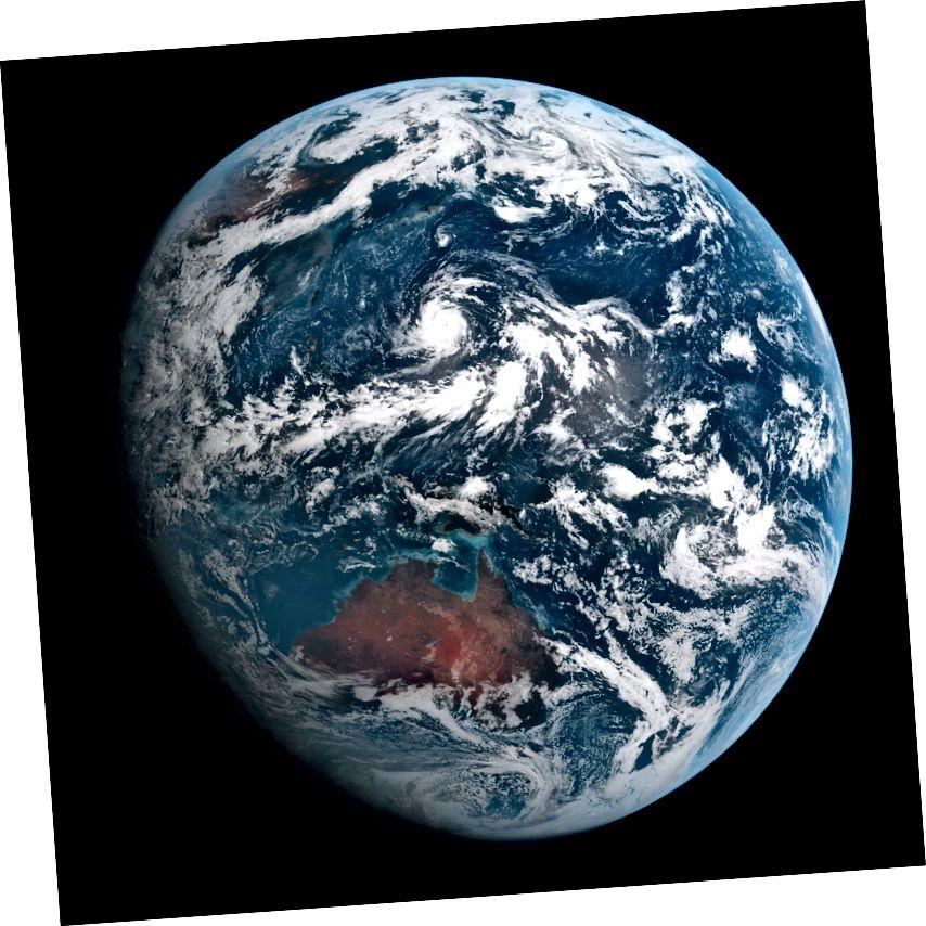 «Երկիր նայելու իմաստն այն է, որ այն Երկիր է, այն գեղեցիկ է, տուն է»: - Չարլի Լոյդը: Տվյալներ Himawari 8 / JAXA- ից: