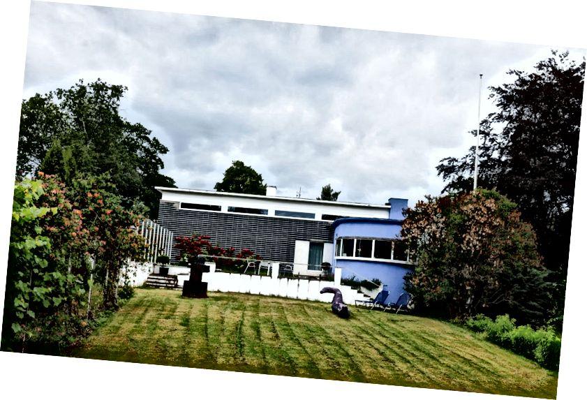 Villa Dammann, navržený Arne Korsmo a Sverre Aasland v roce 1932, je jedním z nejlépe dochovaných příkladů norského funkcionalismu v Oslu. Fotografie: Thomas Ekström