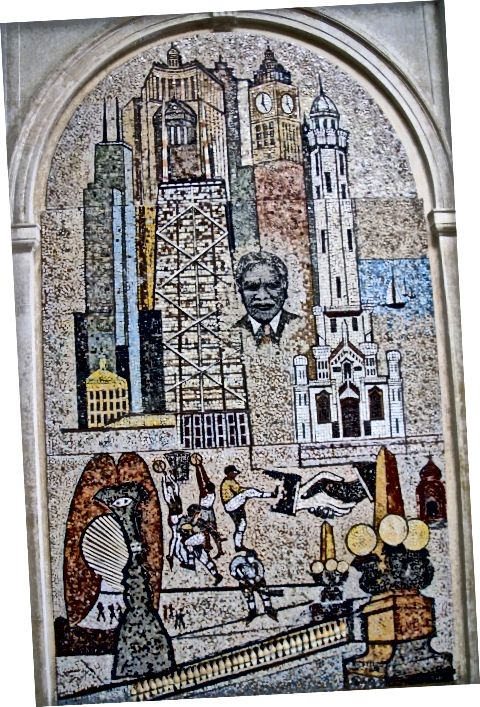 Mozaika zakladateľa v DuSable Museum of African American History